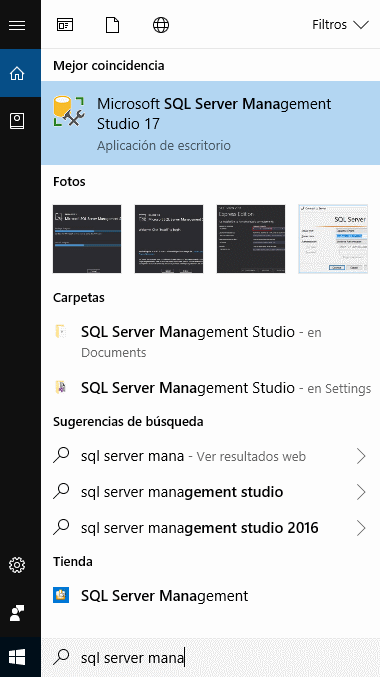 Icono de Microsoft SQL Server Management Studio