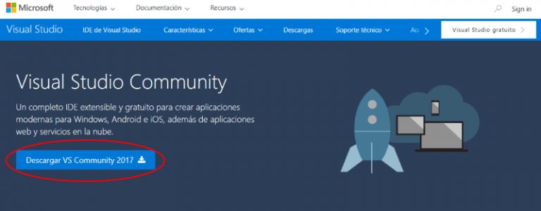 Descargar Visual Studio Community gratis