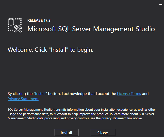 Instalador de SQL Server Management Studio
