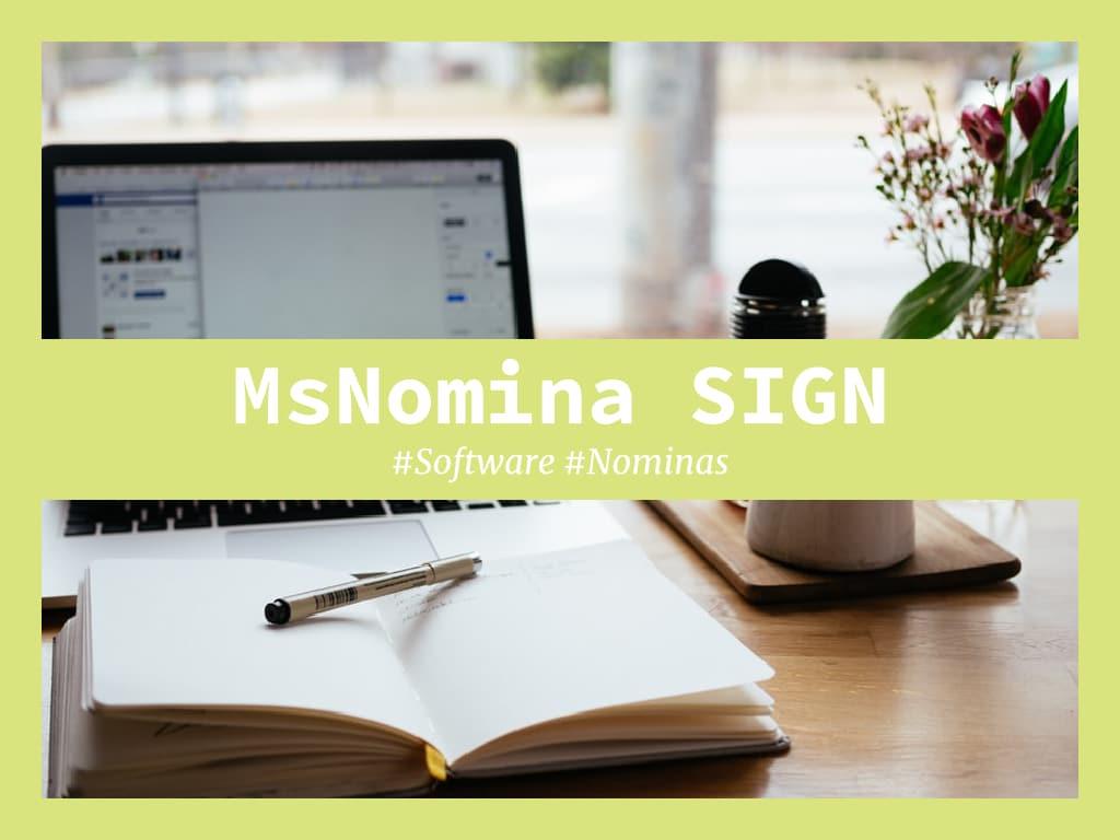 msnomina sign